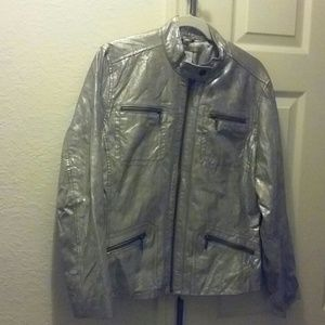 Chico's 100% Leather Jacket